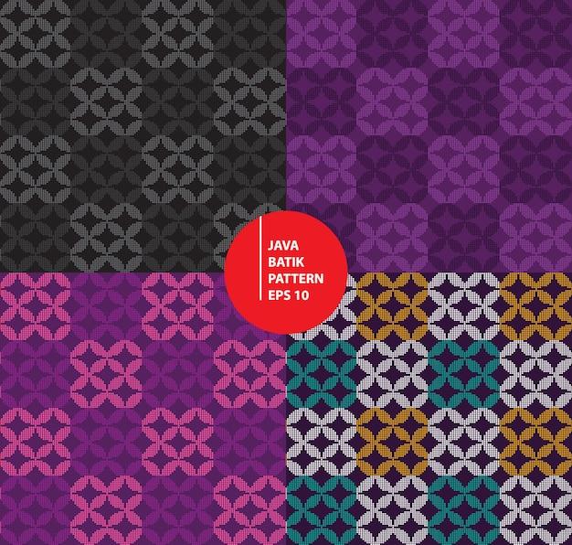 Java indonesië traditionele batik erfgoed naadloze patroon achtergrond