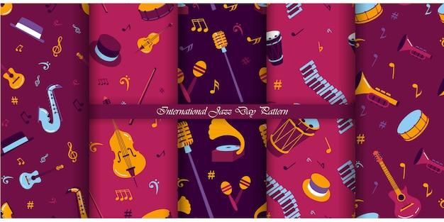 Jazz dag patroon collectie