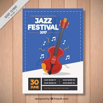 Jazz festival brochure met viool