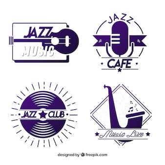 Jazz logo collectie met plat ontwerp