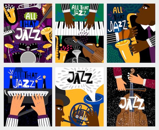 Jazz muziek banners