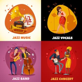 Jazz muziek concept