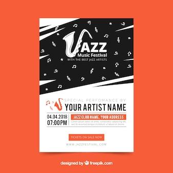 Jazz muziekfestival poster