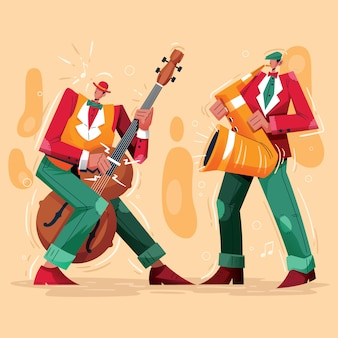 Jazz night music player illustratie