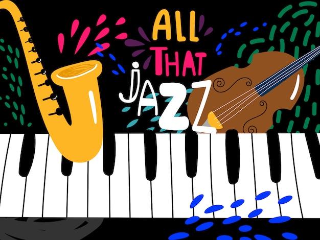 Jazz piano achtergrond