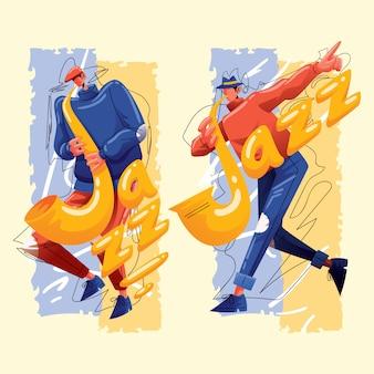 Jazz saxofonist karakter