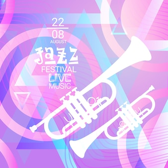 Jazzfestival live muziek concertaffiche advertentiebanner