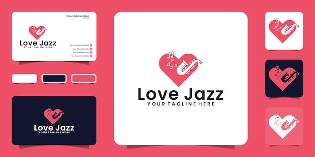 Jazzmuziek houdt van inspiratie voor logo-ontwerp en visitekaartje