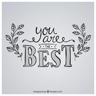 Je bent de beste in de hand geschreven stijl