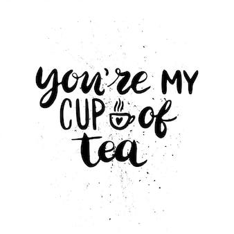 Je bent een kop thee