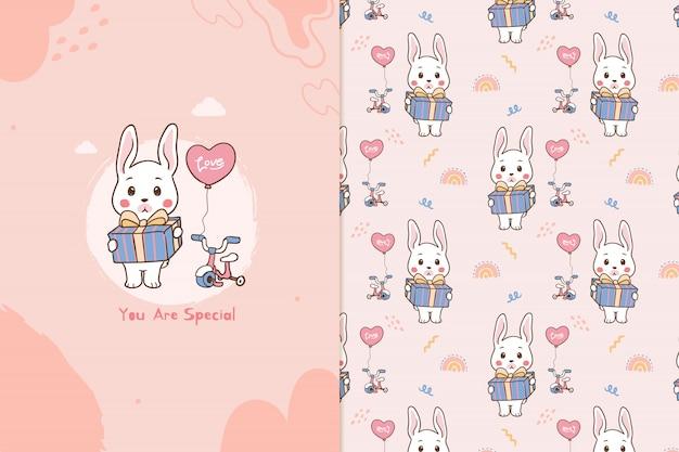 Je bent een speciaal konijntjespatroon