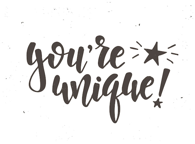 Je bent een uniek kalligrafisch ontwerp