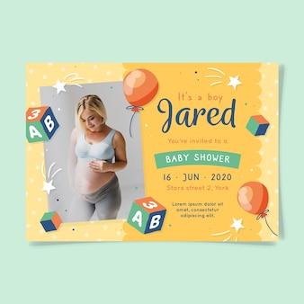 Je bent uitgenodigd voor een babyshower voor jongen en moeder