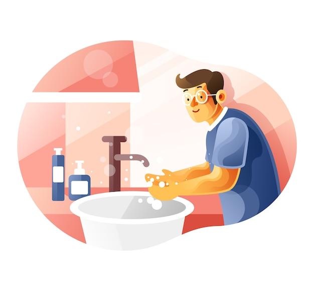 Je handen de hele tijd goed wassen om jezelf te beschermen tegen coronavirus