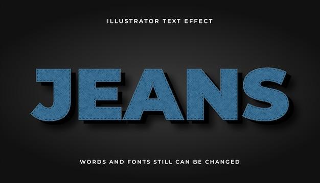 Jeans bewerkbaar teksteffect
