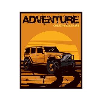 Jeep n de woestijn