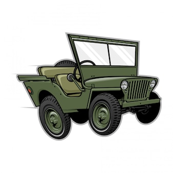 Jeep off road vectorillustratie
