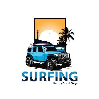 Jeep op het strand