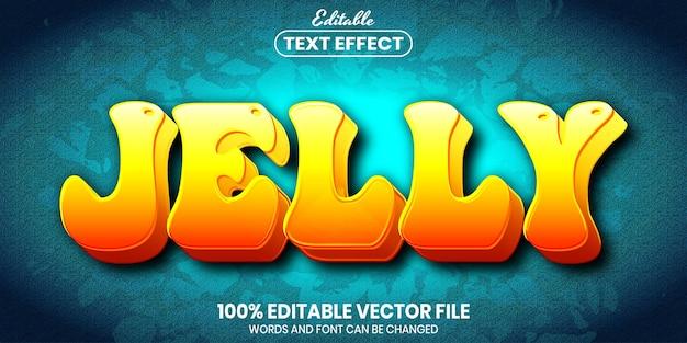 Jelly-tekst, bewerkbaar teksteffect in lettertypestijl