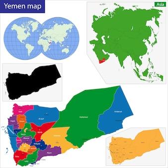 Jemen kaart
