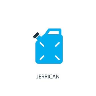 Jerrycan icoon. logo-element illustratie. jerrycan symbool ontwerp uit 2 gekleurde collectie. eenvoudig jerrycan-concept. kan worden gebruikt in web en mobiel.