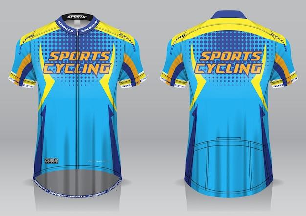 Jersey fietsen voor- en achteraanzicht sportief design