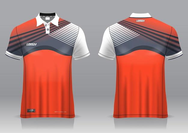 Jersey golf, voor- en achteraanzicht, sportief design en klaar om bedrukt te worden op stof en texlite