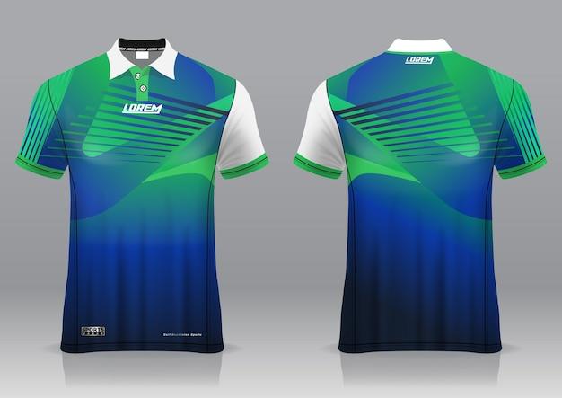 Jersey golf, voor- en achteraanzicht, sportief design