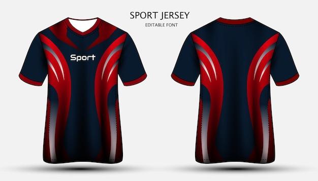 Jersey sjabloon sport t-shirt ontwerp