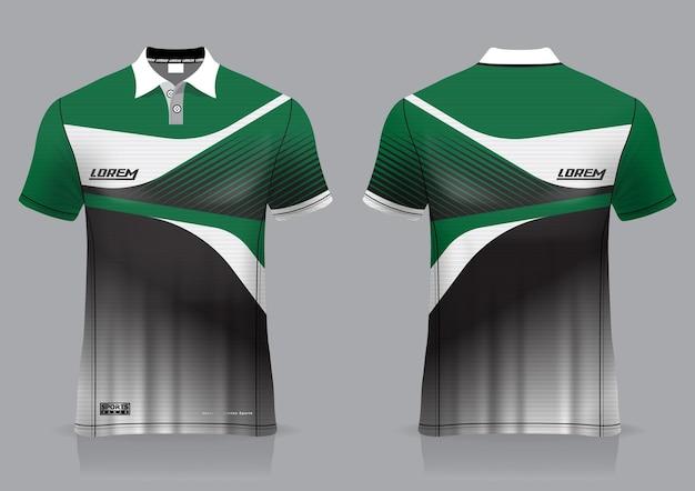 Jersey sport badminton, voetbal, hardloper, voor uniforme voor- en achteraanzichtsjabloon