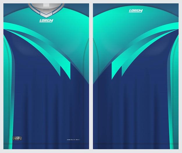 Jersey sport, voetbal, badminton, hardloper, uniform voor- en achteraanzichtsjabloon