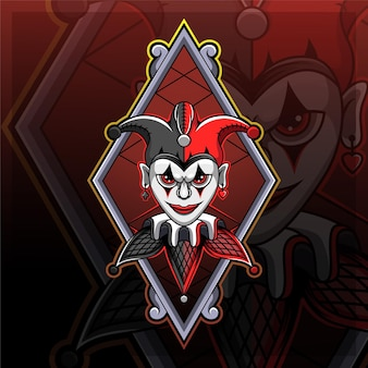 Jester esport mascotte logo ontwerp