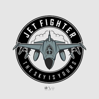 Jet fighter illustratie