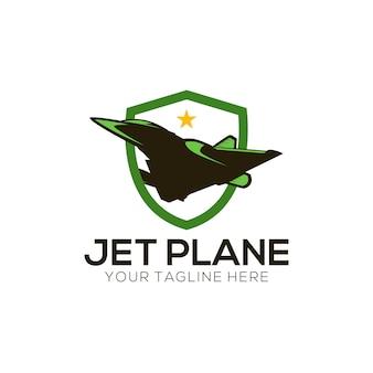 Jet vliegtuig logo