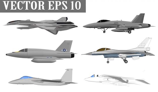 Jet-vliegtuigen en oorlogsschepen voor soldaten