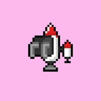 Jetpack met pixelart-stijl
