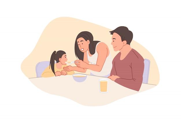 Jeugd en ouderschap concept.