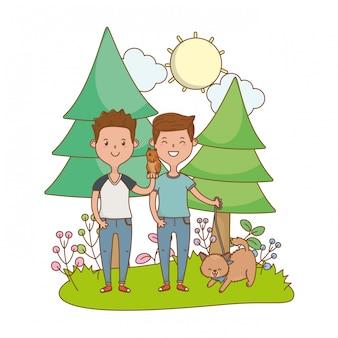 Jeugd gelukkig kind cartoon
