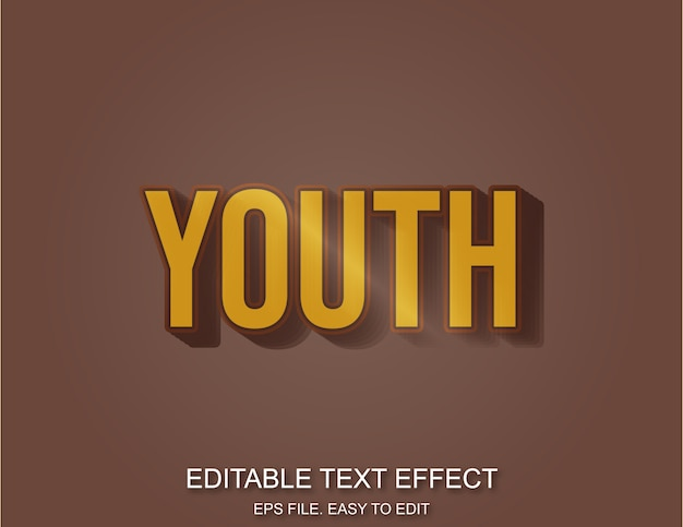 Jeugd retro plastic effect tekststijl
