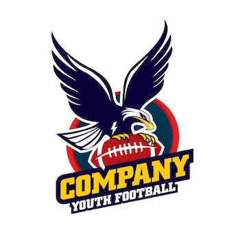 Jeugd voetbal logo, sport embleem logo