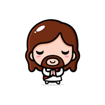 Jezus christus ontwerp bidt
