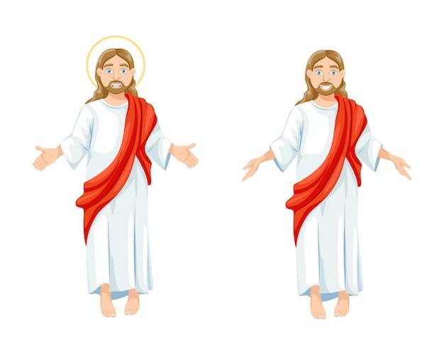 Jezus christus religieus symbool van het christendom zoon van god