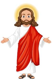 Jezus predikt in staande positie karakter