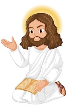 Jezus predikt in zittende houding