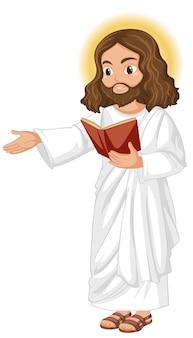 Jezus predikte in staande positie karakter Premium Vector