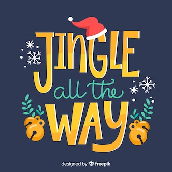 Jingle christmas belettering