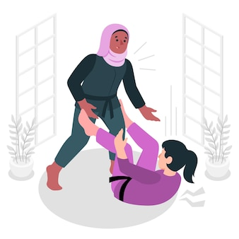 Jiu jitsu concept illustratie