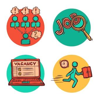 Job bedrijfsconcept samenstelling