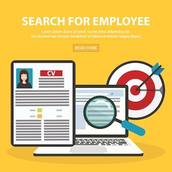 Job candidate selectie concept met zakelijke cv hervatten