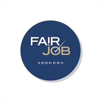 Job fair sticker embleem tekst banner